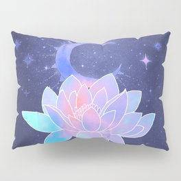 moon lotus flower Pillow Sham