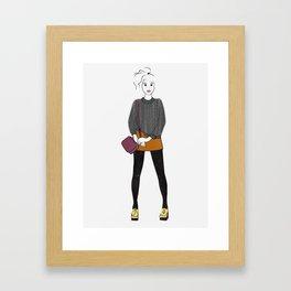 Pilled (grey) Sweater Framed Art Print