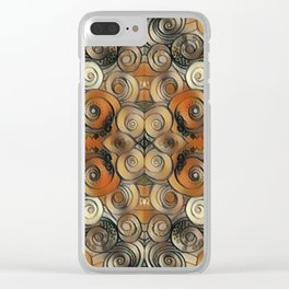 Coiled Metals Clear iPhone Case