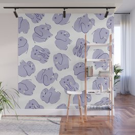 Tumbling Elephants Wall Mural