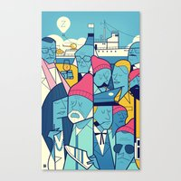zissou Canvas Prints featuring The Life Acquatic with Steve Zissou by Ale Giorgini