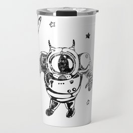 Funny Galaxy Space Black Astronaut Cosmonaut Spaceman Travel Mug
