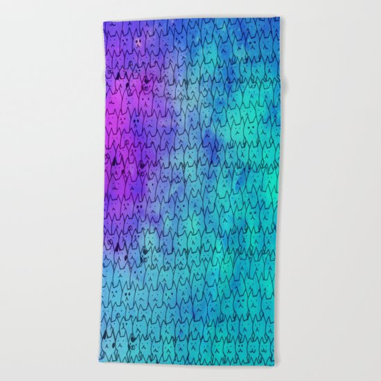 cat-271 Beach Towel