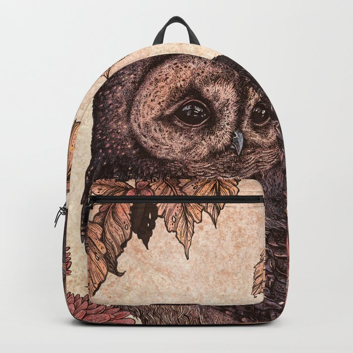 Tawny Owl Pink Backpack