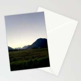Tranquil mountains dusk Stationery Cards