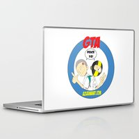 gta Laptop & iPad Skins featuring GTA - Mat Botak + Ninja Boy with Circle Behind by Azlee Mahat