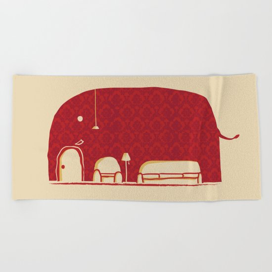Elephanticus Roomious Beach Towel