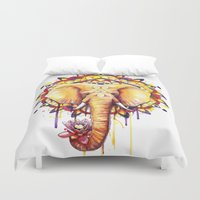 ornate elephant Duvet Covers featuring Elephant Mandala by Sam Nagel