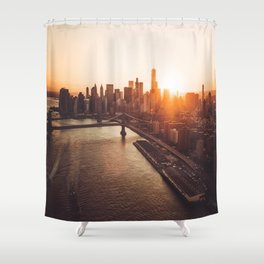 nyc aerial view Shower Curtain