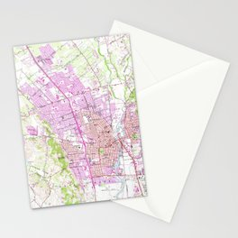Vintage Map of Napa California (1951) Stationery Cards