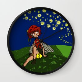 Firefly Fairy Wall Clock