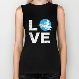 Love Snowmobile Funny Winter Sports Sled Gift Idea Biker Tank