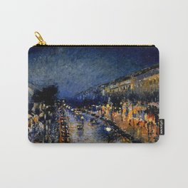 The Boulevard Montmartre At Night : Camille Pissarro Carry-All Pouch