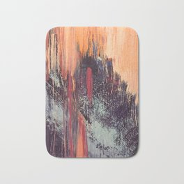 Night and Day: pretty abstract piece in orange, purple, and blues Bath Mat