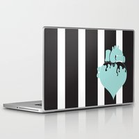 pastel goth Laptop & iPad Skins featuring Pastel Goth Heart by Minette Wasserman