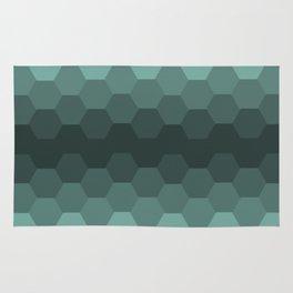 Teal Mint Honeycomb Rug