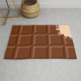 Chocolate Sweet Bar with a bite out of the corner Rug