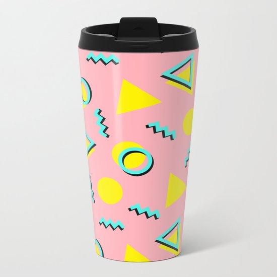 Memphis pattern 60 Metal Travel Mug