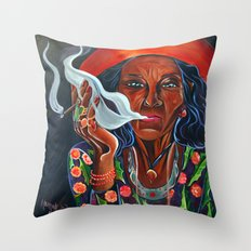 Old Gypsy Woman Throw Pillow