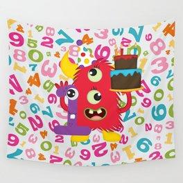 Birthday Monster 1st Birthday Wall Tapestry