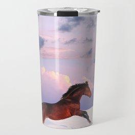 horse collection. winter Travel Mug