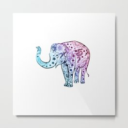 Henna Elephant Metal Print