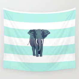 The Green Elephant Wall Tapestry