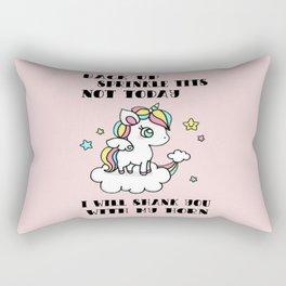 Unicorn saying Rectangular Pillow