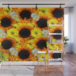 Sunflowers - Shades of yellow Wall Mural
