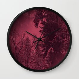 A cold wintry evening... Wall Clock