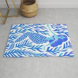 Kelp Forest Mermaid – Blue Palette Rug