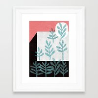 plants Framed Art Prints featuring Plants by The Printed Peanut