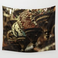lantern Wall Tapestries featuring Moroccan Lantern  by sohailchouhan
