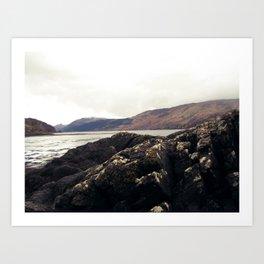 Scottish Highlands Rocky Shore Art Print