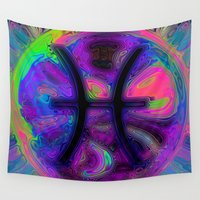 pisces Wall Tapestries featuring Pisces by Synesthetic