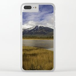 Walking with her head in the clouds Clear iPhone Case