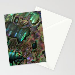 Oil Slick Abalone Mother Of Pearl Stationery Cards
