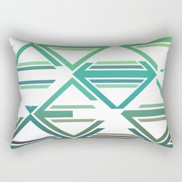 Geometric pattern green and blue triangles Rectangular Pillow