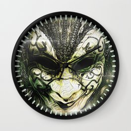 Venice -- A Fractal Dream in the City of Masks Wall Clock