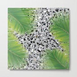 tropical terrazzo Metal Print