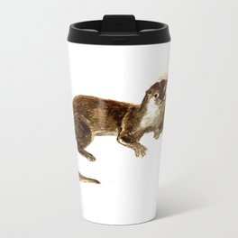Totem otter: Amblonyx cinerea Metal Travel Mug