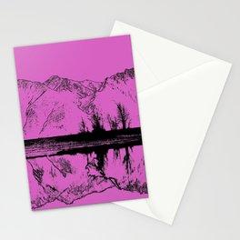 Knik River Mts. Pop Art - 5 Stationery Cards