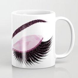 Glittery burgundy lashes Coffee Mug