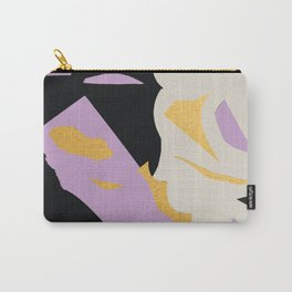 Terrazzo Cut Out Collage Gold Carry-All Pouch