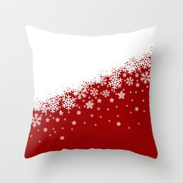 Xmas Snow 01 Throw Pillow