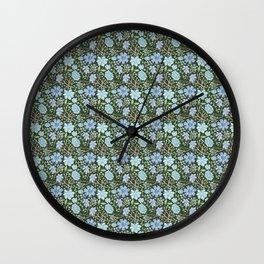 Oceanflowers Wall Clock