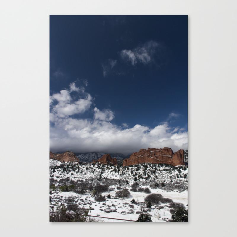 Garden Of The Gods Colorado Springs Canvas Print