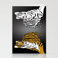 tigers Stationery Cards featuring Tigers by Christina Gulbrandsen