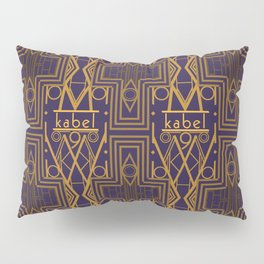 Kabel Type Portrait Purple Pillow Sham