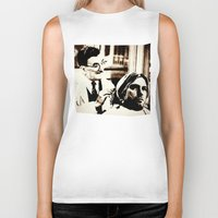 floyd Biker Tanks featuring Kurt & Floyd  |  Grunge Collage by Silvio Ledbetter